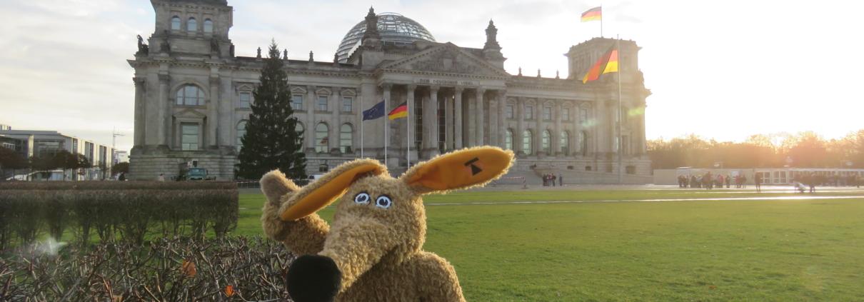 Schnuffi am Platz der Republik